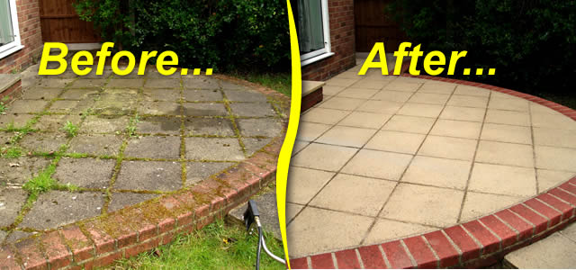 Drive care gutter care gutter cleaning shropshire north for Best way to clean driveway
